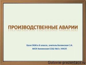 Готовая презентация PowerPoint по Основы Безопасности Жизнедеятельности